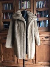 Vintage Faux Simulated Fur Coat / Jacket Ladies Woman's Mid Light Brown