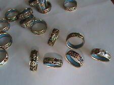 18 Super Vintage Cloisonee Rings Mix Color & Size Enamel Inside & Out All MINT