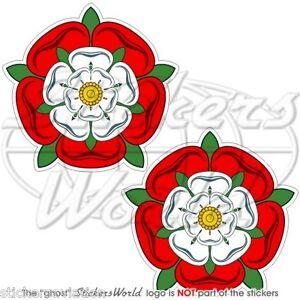 TUDOR-ROSE-of-England-UK-English-Flower-British-75mm-3-034-Vinyl-Sticker-Decal-x2