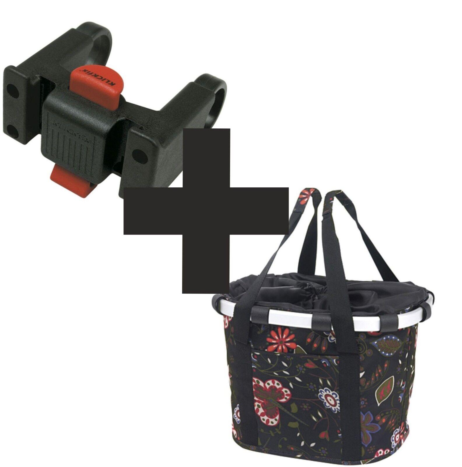 Set  Reisenthel Fahrrad Basket Fahrrad Basket Dessin fol + Handlebar Adapter 0211