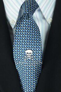Lord-R-Colton-Studio-Tie-Navy-Black-amp-White-Dot-Silk-Necktie-95-Retail-New