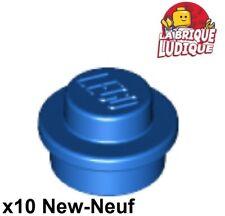 Round 1x1-6240225 4163917 bleu c TRANS l blue Lot x15 Lego Plaque