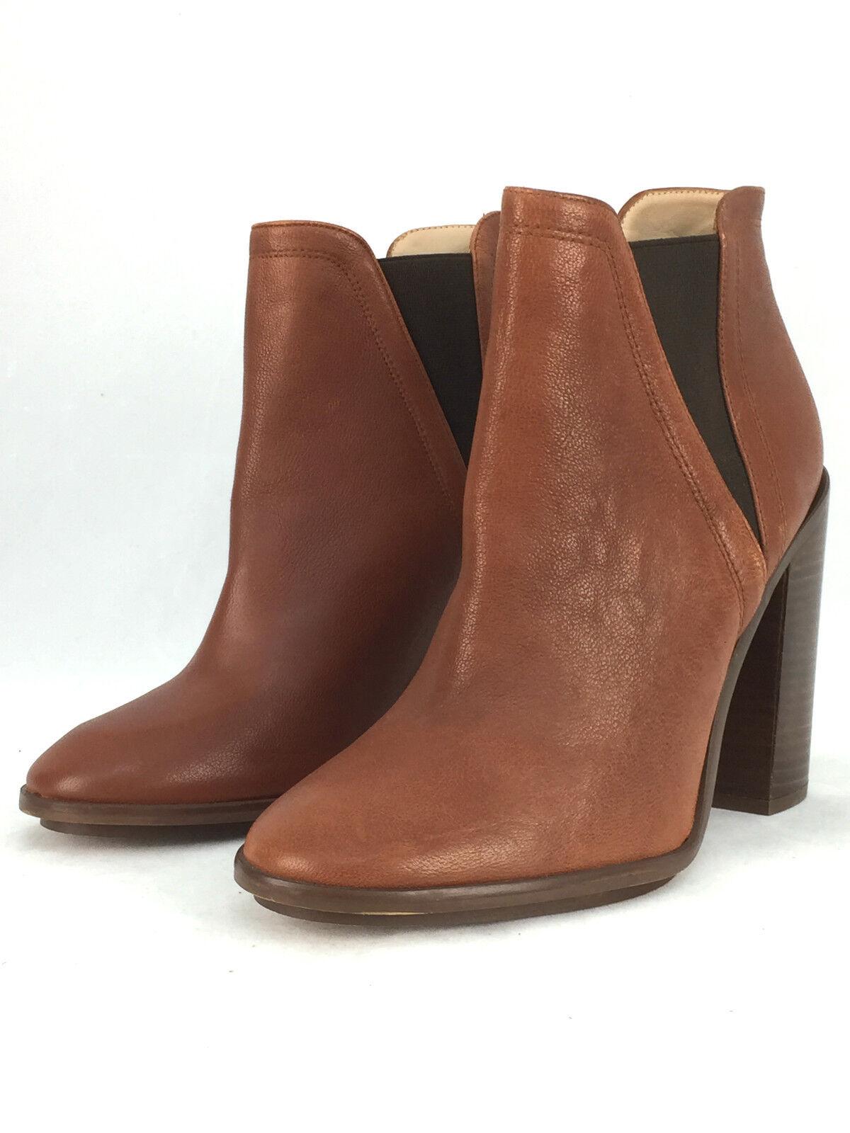 Zara Cuero Tacón Alto Botas al Tobillo Zapatos Talla UK5/EUR38/US7.5  .99