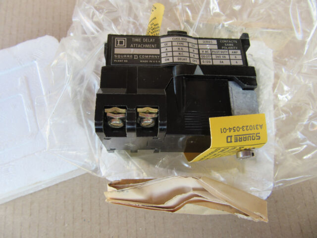 NEW SQUARE D 8501 GD TIME DELAY ATTACHMENT SQ D 8501GD