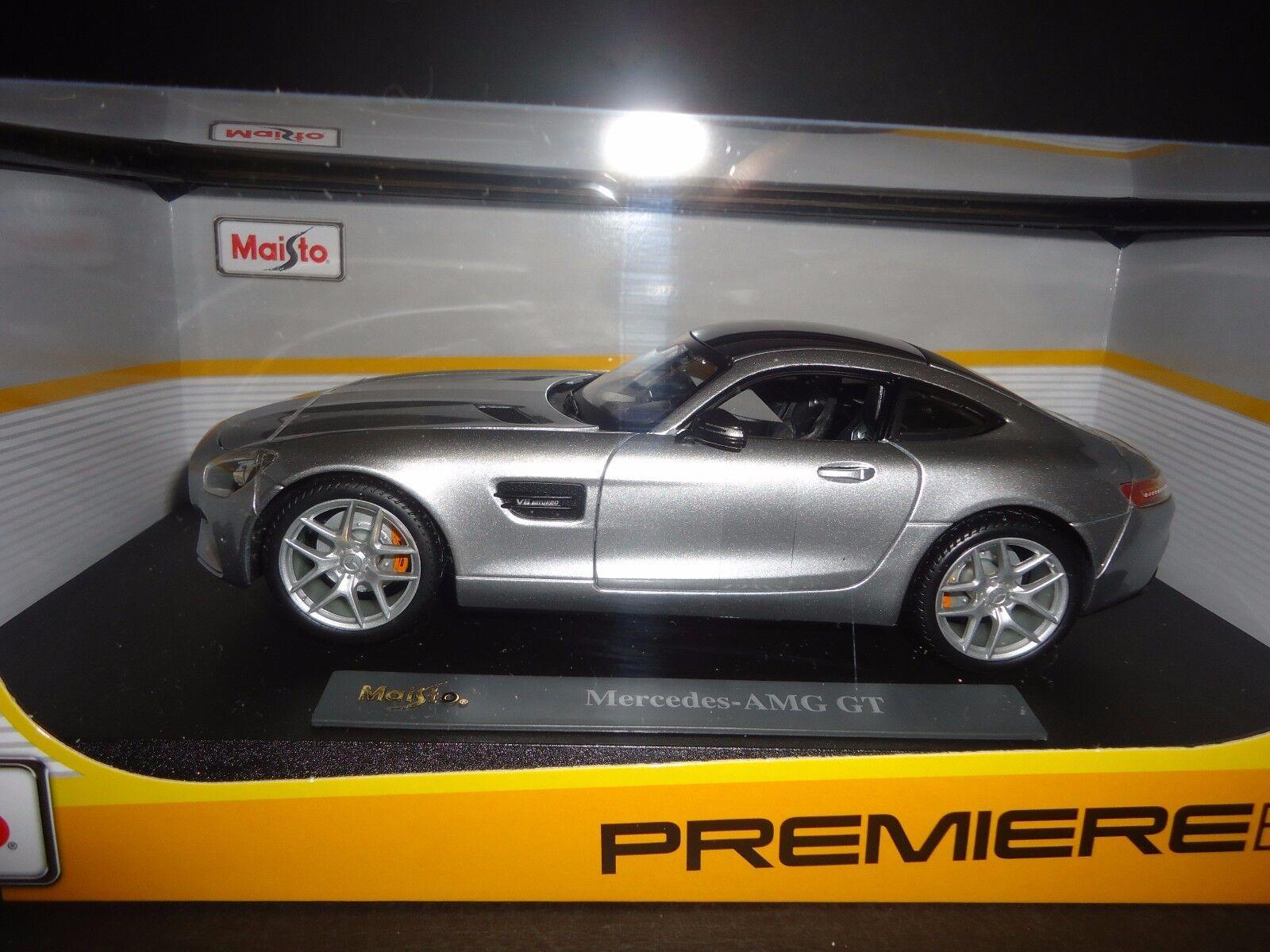 Maisto Mercedes Benz AMG Gt 2015 silver 1  18