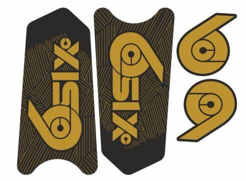 Race Face SixC Crank Decals Set Stickers Mountain Bike Adhesive Gold 2Pcs