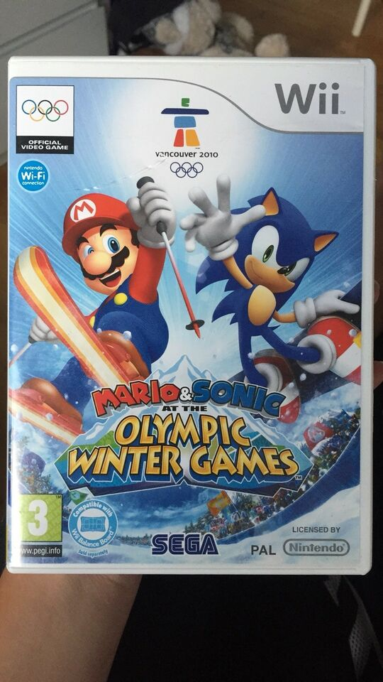 Mario & Sonic at the olympic winter games, Nintendo Wii,