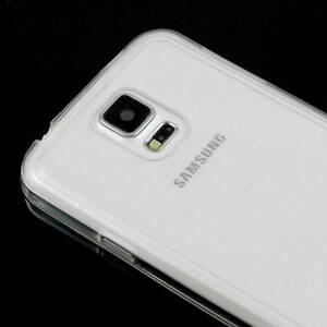 CLEAR-SAMSUNG-GALAXY-S5-CASE-HARD-BACK-CLEAR-TPU-SILICONE-BUMPER-COVER-M71
