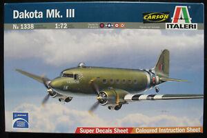 ITALERI-1338-Douglas-DC-3-Dakota-MK-III-1-72-Flugzeug-Modellbausatz-Kit