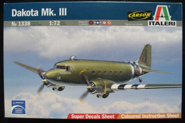 ITALERI 1338 - Douglas DC-3 - Dakota MK. III - 1:72 - Flugzeug Modellbausatz Kit