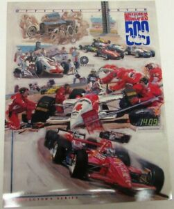 1994 Indianapolis 500 Official Poster Ken Dallison Collector's Series Indy Rare
