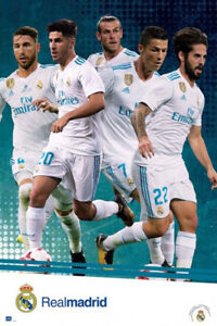 Image is loading Real-Madrid-CF-2018-FIVE-SUPERSTARS-POSTER-Ronaldo- 8913a20f84