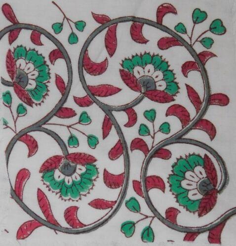 Handblock Print Fabric Cotton Indian Sanganer Natural Color 10 Yard craft fabric