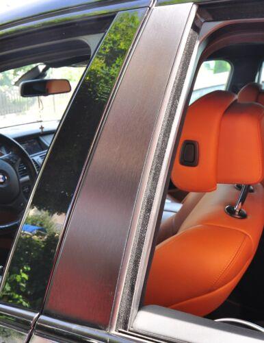 6x Tür leisten Zierleisten B Säule Verkleidung Struktur Folie Tuning Alu geb G1
