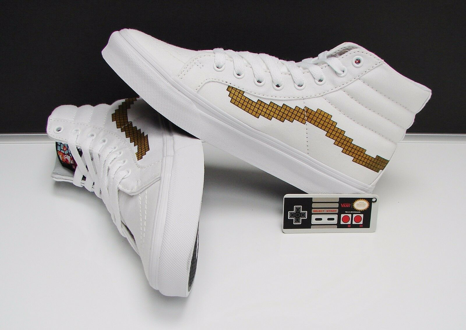 Vans SK8 Hi Slim Nintendo Console Gold Women's Size: 9.5