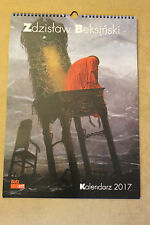 Original Calendar 2017 - 13 paintings by Zdzislaw Beksinski 3# KALENDARZ