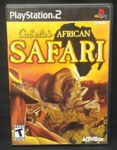Cabela's African Safari - PS2 Playstation 2 COMPLETE Game 1 Owner Near Mint Disc