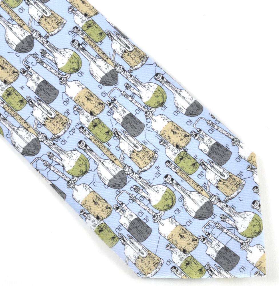 Copieux Chimie Verre Fioles Cravate Pour Chimistes Et Lab Techniciens Ventes Bon Marché