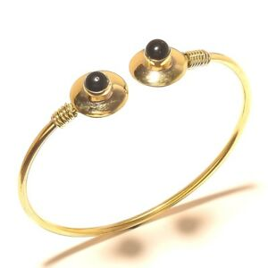 Black-Onyx-Tibetan-Silver-Brass-Cuff-Bracelet-Bangel-Gemstone-Jewelry-Q10