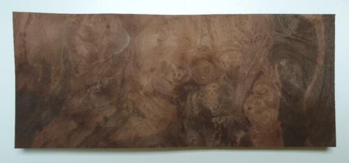 L48 placage bois, marqueterie, boite, ébéniste 12x Loupe noyer 21 x 9 cm