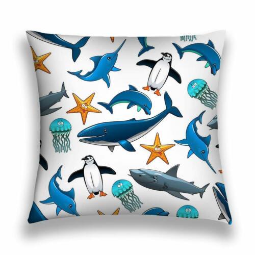 Kissenbezug Aus Polyester Für Wildtiere Seetiere Große Riffhaie Vögel
