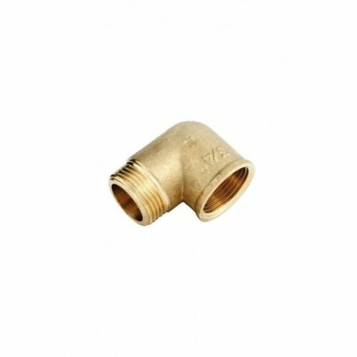 """Pipe Fittings Brass BSP Threaded 90° Elbow 1//2/"""" 3//4/"""" 3//8/"""" Bent Connector"""