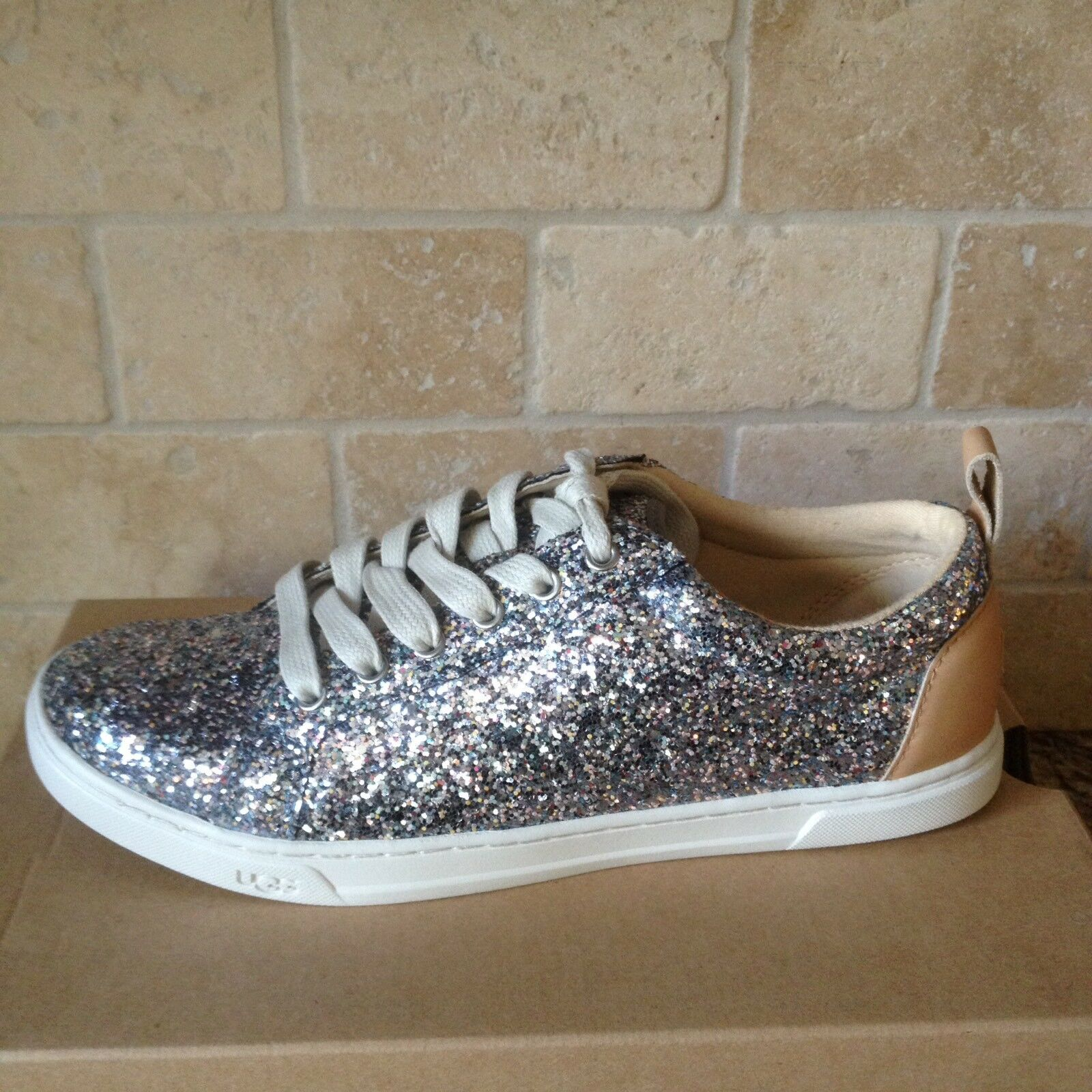 UGG KARINE SNEAKERS CUIR SPARKLY MULTI CHUNKY CHAUSSURES TAILLE US 7 FEMMES