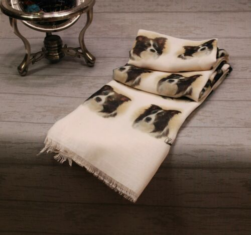 scarf with Collie dogs Border Collie print scarf for women Collie dog gifts