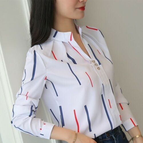 Blusas de Mujer Camisas Moda Blusa Elegante Manga Larga Nueva Camisa Tops Casual