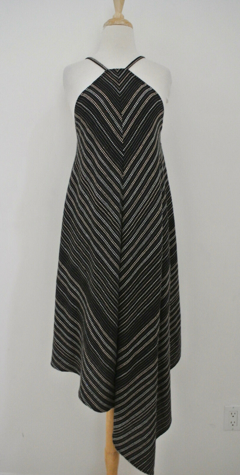 LAURA SIEGEL Handloom Asymmetric dress NWT  sz XS