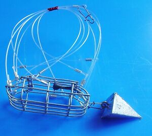 NEW-VERSION-QUALITY-HAND-CRAFTED-CRAB-SNARE-4oz-PYRAMID-WEIGHT-INCLUDED