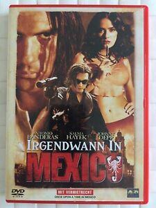 Irgendwann-in-Mexico-Antonio-Banderas-Salma-Hayek-Johnny-Depp-DVD-sehr-Gut