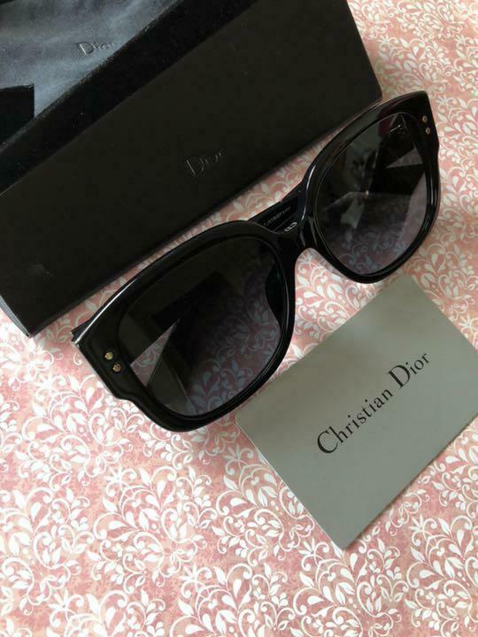 CHRISTIAN DIOR Sunglasses LADY DIOR STUDS Logo Used Excellent