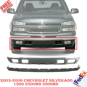 Front Bumper Lower Valance Extension Textured For 2003 2006 Chevy Silverado Ebay