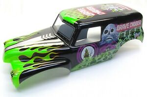 Axial-SMT10-Grave-Digger-Painted-GREEN-BODY-shell-monster-truck-AX31459-AXI03019