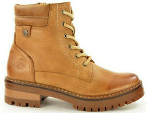 Ladies-Ankle-Boots-Lace-Up-Block-Heel-Grip-Sole-Hiking-Walking-Style-Winter-Boot
