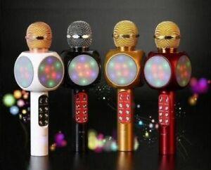 Microfono-Altoparlante-Bluetooth-Wireless-Con-Speaker-Karaoke-led-new-model-n
