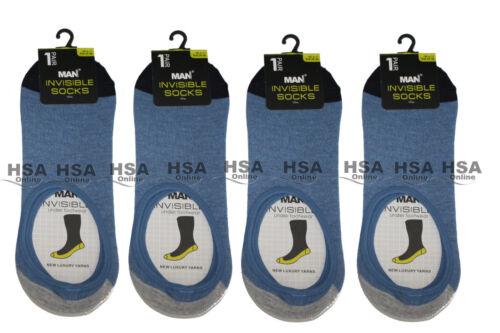 Homme Invisible Coton Riche Trainer Liner Chaussettes Taille UK 6-11 cadeau d/'anniversaire