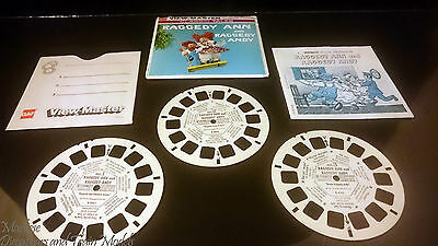 21 3D by 3Dstereo ViewMaster ViewMaster Raggedy Ann and Rggedy Andy 3 Reel Packet