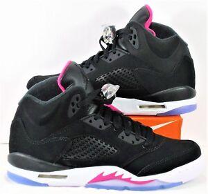 the best attitude cfe32 731ae Image is loading Nike-Air-Jordan-Retro-5-V-GS-Black-