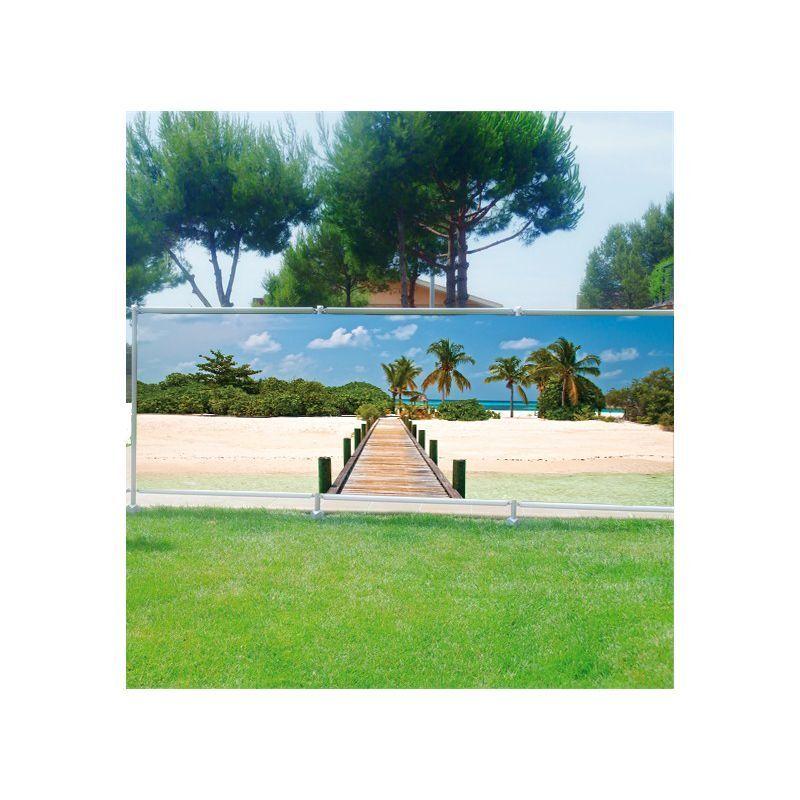 Brisa Vista Decoración Impreso para Jardín, Balcón o Terraza Ponton Isla 3610