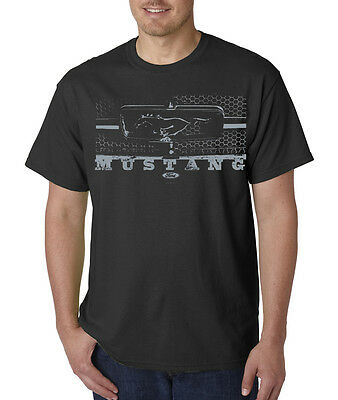 Ford Mustang Front Grill Logo Pony Racing T-Shirt S-5XL