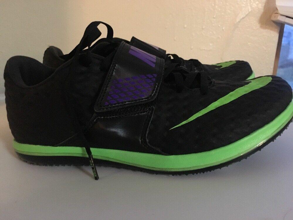 Nike di salto in alto élite uomini nuovi sz 10 binari campo spuntoni hj nero 806561 035 volare