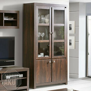 vitrine ii indigo regal schrank in eiche durance. Black Bedroom Furniture Sets. Home Design Ideas