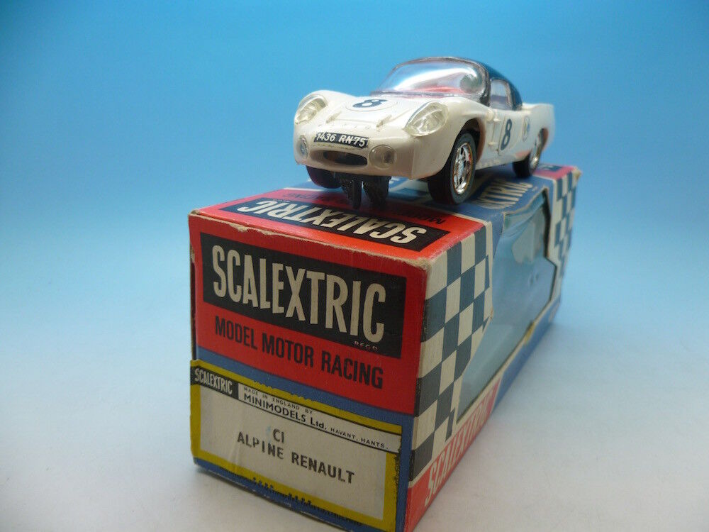 Scalextric C1 Alpine Renault in white good condition and boxed