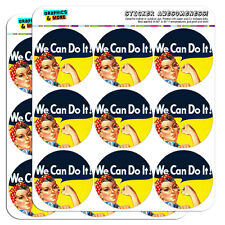 """Rosie The Riveter War Poster 2"""" Scrapbooking Crafting Stickers"""