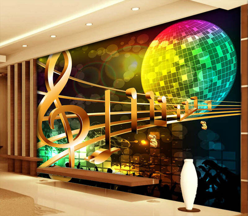 Enchanting Note 3D Full Wall Mural Photo Wallpaper Printing Home Kids Decoration