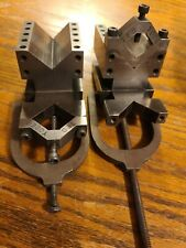 Machinist Setup Double V Blocks With Clamps Set Of 2 Threaded Hole Tools