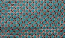 Teal & Copper Checkered with Black~ Windham Fabrics ~ 100% QSQ Cotton ~ Sold BTY