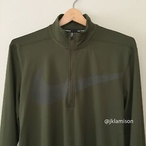 807f2e4b Details about Nike Dri-FIT ELEMENT Men's Long Sleeve Half-Zip Running Top  size Small Medium